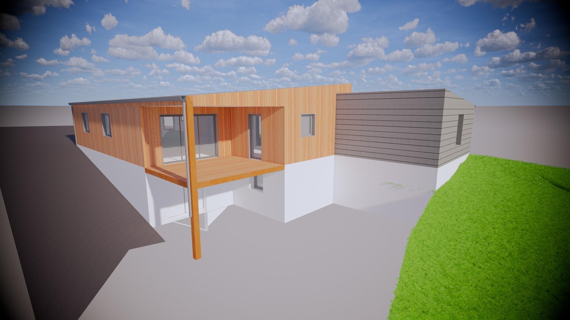 Maison ossature bois à La Chataigneraie